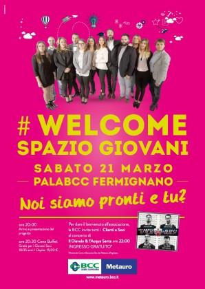 """""""Welcome Spazio giovani"""", iniziativa per i soci della Bcc del Metauro"""