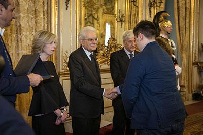 Terra è donna: Ambrosini, studente dell'Olivetti, ritira il premio in Quirinale