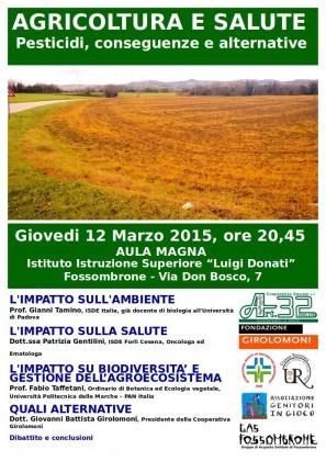 """""""Agricoltura e salute – Pesticidi, conseguenze e alternative"""", il 12 serata di approfondimento"""