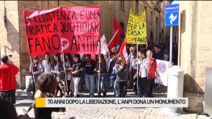 70 anni dopo la Liberazione, l'Anpi dona un monumento – VIDEO
