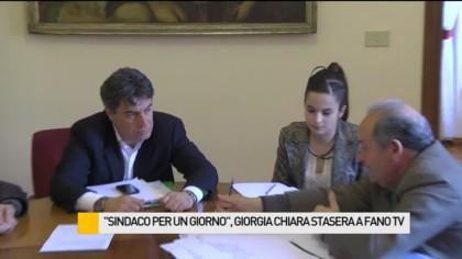 """Giornata intensa per Giorgia, il primo """"Sindaco per un giorno"""" – VIDEO"""