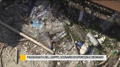 Passeggiata del Lisippo, scenario di sporcizia e degrado – VIDEO
