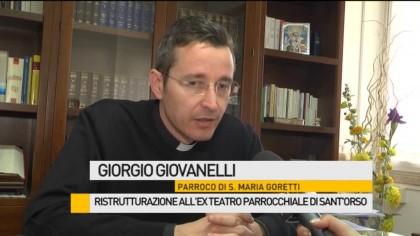 Ristrutturazione all'ex teatro parrocchiale di Sant'Orso – VIDEO