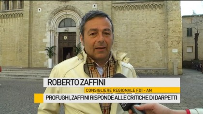 Profughi, Zaffini risponde alle critiche di Darpetti – VIDEO