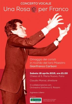 Concerto in ricordo del M° Gianfranco Carboni a 30 anni dalla sua morte