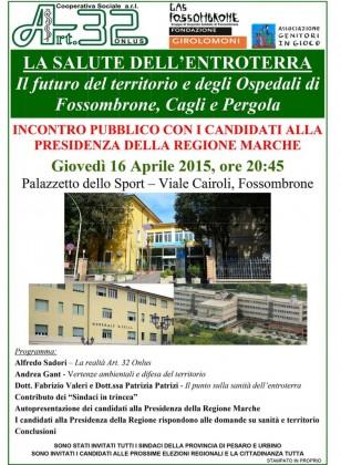 Incontro pubblico con i candidati alla presidenza della Regione Marche