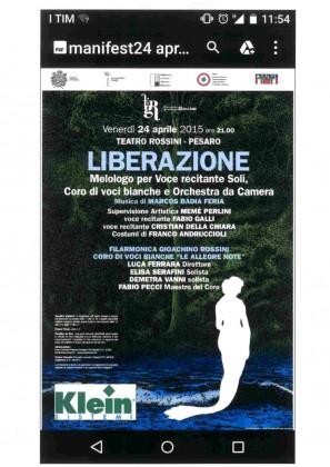 """""""Liberazione"""" al teatro Rossini"""