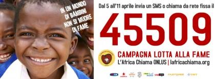 """""""Lotta alla Fame"""", l'Africa Chiama Onlus lancia una campagna nazionale"""