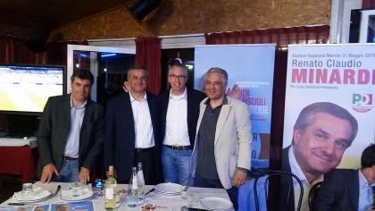 """Elezioni, in 300 alla cena per Minardi. Ceriscioli: """"Con Renato in Regione faremo grandi cose per Fano"""""""