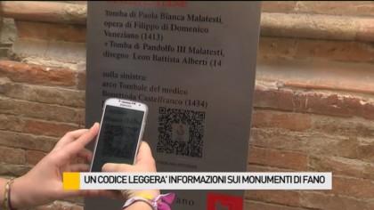 Un codice leggerà informazioni sui monumenti di Fano – VIDEO