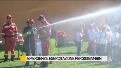 Emergenze, esercitazione per 300 bambini – VIDEO