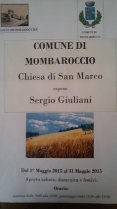 Mostra di Sergio Giuliani a Mombaroccio fino al 31 maggio