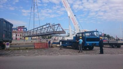 Iniziati i lavori di rimozione del vecchio ponte del Lido – FOTO – VIDEO