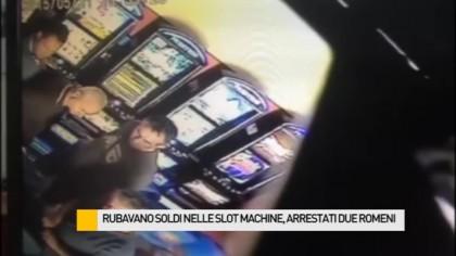 Rubavano soldi nelle slot machine, arrestati due romeni – VIDEO