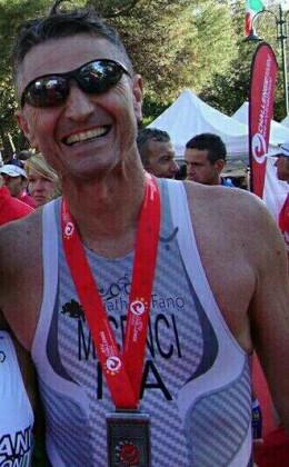 """Fano + Sport: Maurizio Cenci si aggiudica il titolo di """"Finisher"""" al Challenge Rimini 2015"""