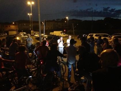 """Inaugurazione pista ciclabile illuminata, Seri: """"Uno degli obiettivi del primo anno di mandato"""""""