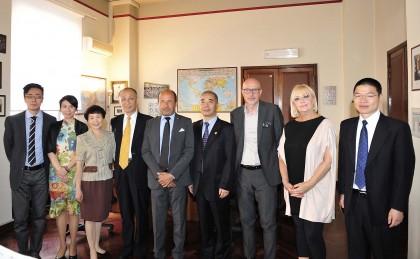 Delegazione cinse alla Camera di Commercio di Pesaro e Urbino