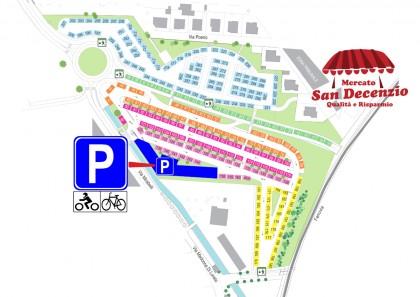 San Decenzio, nuovo parcheggio per bici e motorini a servizio del mercato