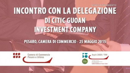 Incontro Camera di Commercio PU con investitori cinesi