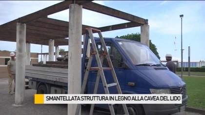 Smantellata la struttura in legno alla Cavea del Lido – VIDEO