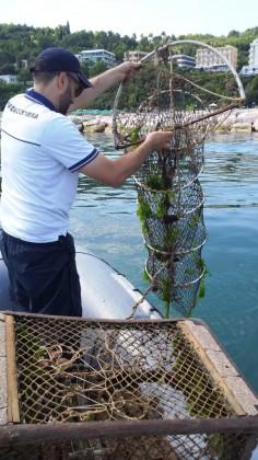 Sequestrate attrezzature da pesca in mare, dove l'attività non è consentita
