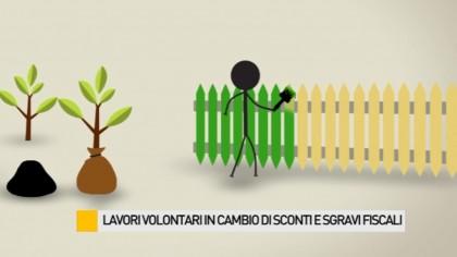 Lavori volontari in cambio di sgravi fiscali – VIDEO