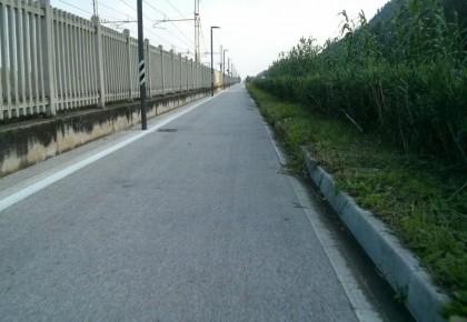 Intervento di sfalcio lungo la ciclabile Fano – Pesaro