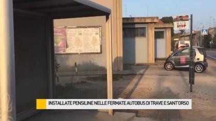 Installate pensiline nelle fermate bus di Sant'Orso e della zona Trave – VIDEO