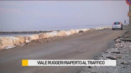 Riaperto viale Ruggeri dopo le violente mareggiate – VIDEO