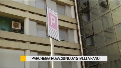 Parcheggi rosa, 20 nuovi stalli a  Fano – VIDEO