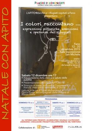 """""""I colori raccontano"""", emozioni e speranze dei rifugiati in una mostra a Fano"""