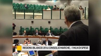 Regioni, bilancio 2016 Consiglio Marche: -1mln di spese – VIDEO