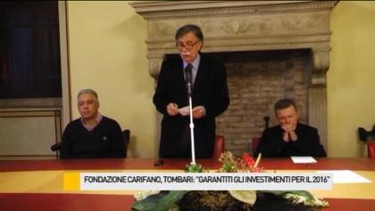 """Fondazione Carifano, Tombari: """"Confermati gli investimenti per il 2016"""" –  VIDEO"""