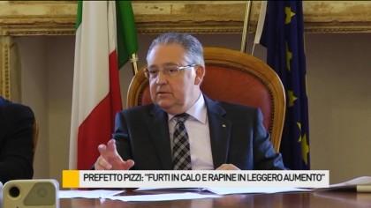 """Prefetto Pizzi: """"Furti in calo e rapine in leggero aumento"""" – VIDEO"""