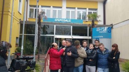 Baldelli (FdI) in visita agli ospedali che chiudono e a quelli in via di smantellamento