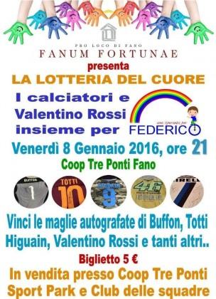"""Venerdì una """"Lotteria del Cuore"""" per il piccolo Federico Mezzina"""