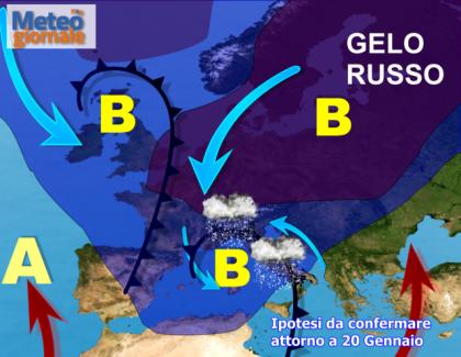 Dal 20 Gennaio gelo imponente. Sarà il Grande Freddo II  ?