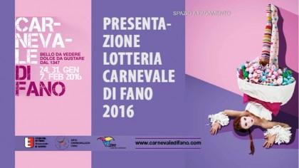 Presentazione lotteria del Carnevale di Fano 2016
