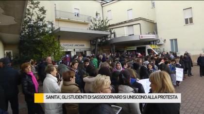 Sanità, gli studenti di Sassocorvaro si uniscono alla protesta – VIDEO