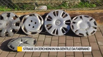Strage di cerchioni in via Gentile Da Fabriano – VIDEO