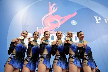 Le farfalle azzurre si è aggiudicano la Coppa del Mondo di Ginnastica Ritmica