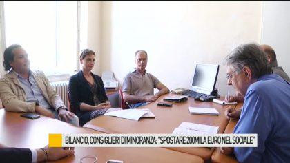 """Bilancio, consiglieri di minoranza: """"Spostare 200mila euro nel sociale"""" – VIDEO"""