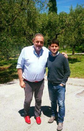 Gianfranco Vissani con il Sindaco di Cartoceto Enrico Rossi