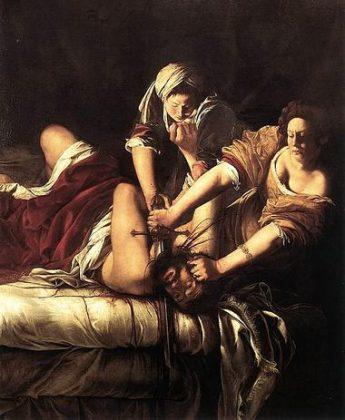Giuditta che decapita Oloferne - Artemisia Gentileschi 1620 olio su tela (Uffizi - Firenze)