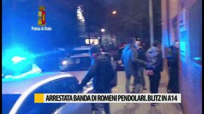 Arrestata banda di romeni pendolari. Blitz in A14 – VIDEO