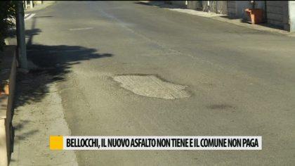 Bellocchi, il nuovo asfalto non tiene e il comune non paga – VIDEO
