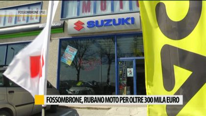 Fossombrone, rubano moto per oltre 300 mila euro – VIDEO
