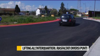 Lifting all'interquartieri, riasfaltati diversi punti – VIDEO
