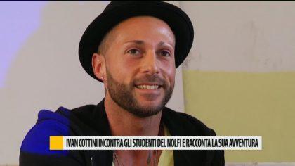 Ivan Cottini incontra gli studenti del Nolfi e raccolta la sua avventura  – VIDEO