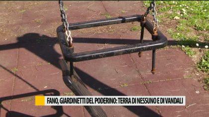Fano, giardinetti del Poderino: terra di nessuno e di vandali  – VIDEO